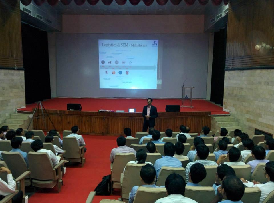 Mr. Alvis Lazarus A from Flipkart @IIMKashipur