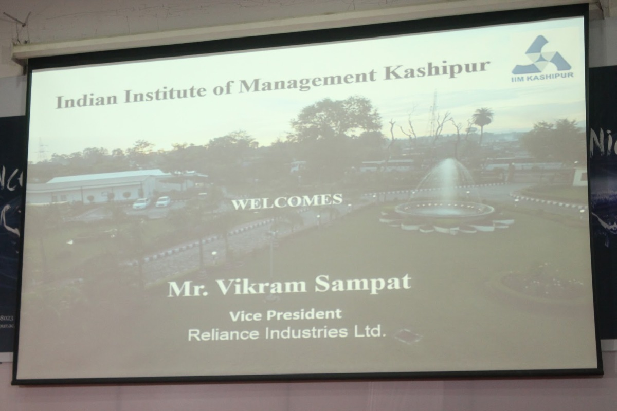 Guest lecture by Mr. VikramSampat